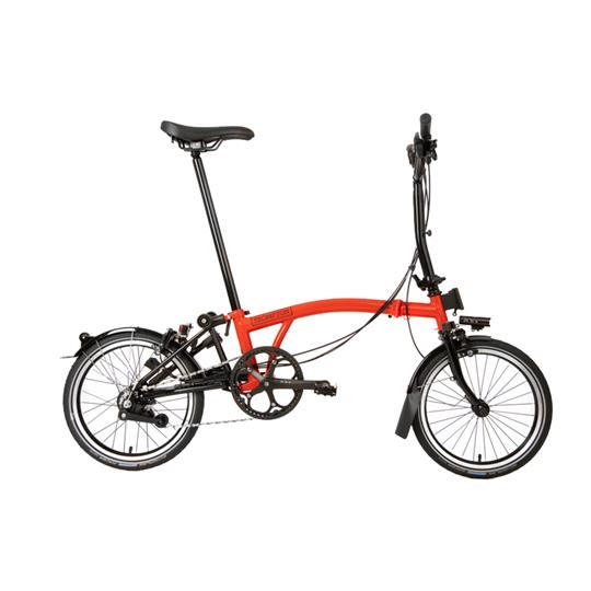 Brompton M6R Black Edition Gloss Rocket Red