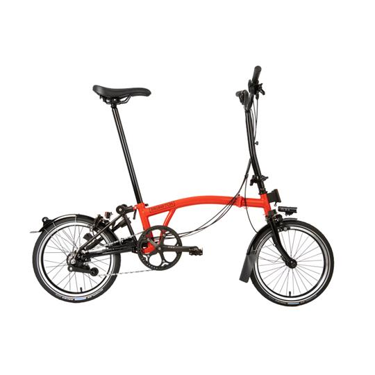 Brompton H6L Black Edition Gloss Rocket Red