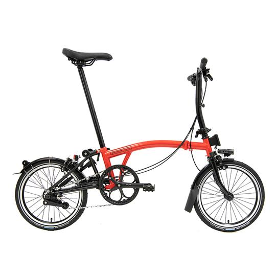Brompton S6L Black Edition Gloss Rocket Red