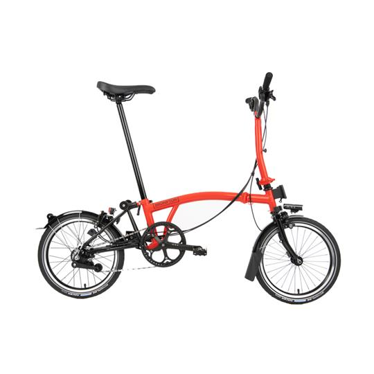 Brompton M6L Black Edition Superlight Rocket Red